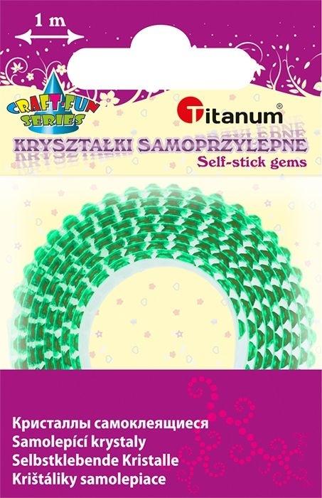 Kryształki na taśmie samoprzylepnej zielony 12mm/1m