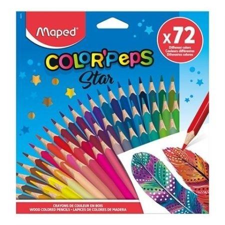 Kredki ołówkowe trójkątne 72 kol.Colorpeps Maped
