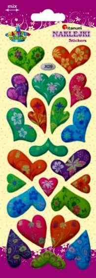 Naklejki dekoracyjne serca 22szt Titanum