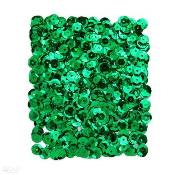 Cekiny metaliczne 9mm 15G zielone ciemne  Dalprint