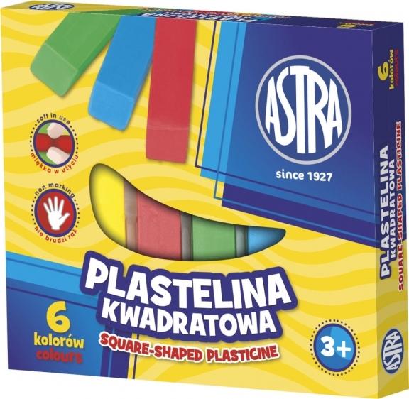 Plastelina kwadratowa 6 kolorów Astra