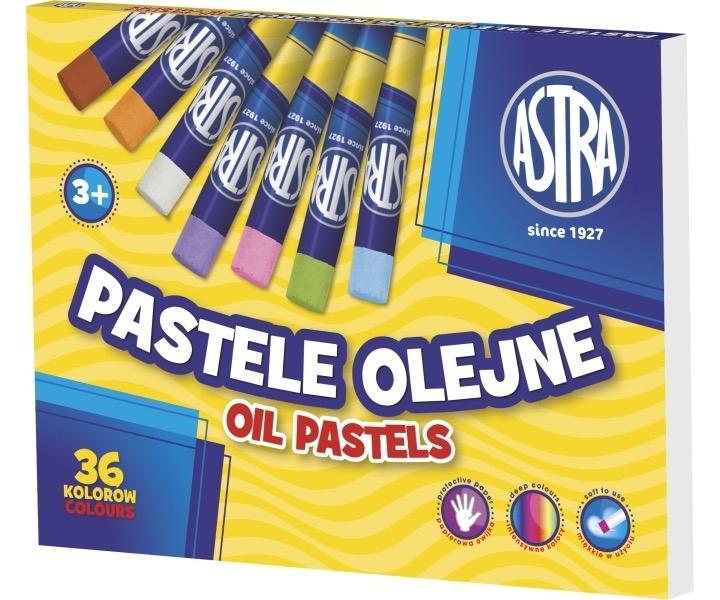 Kredki pastelowe olejne 36 kolorów Astra