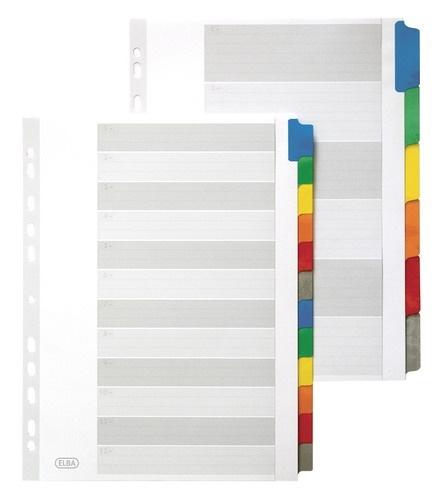 Przekładki ELBA do segregatora A4 12 kolorów