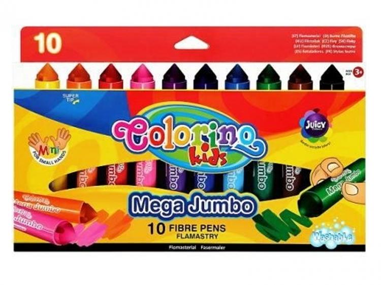 Pisaki 10 kolorów MEGA JUMBO COLORINO