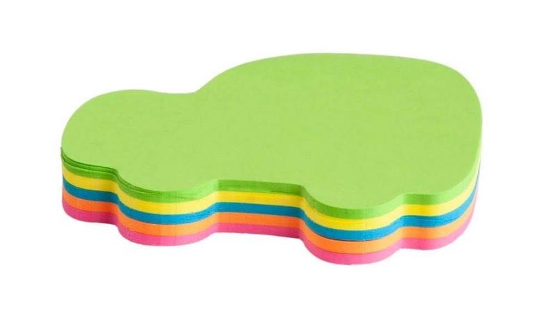 Notes samoprzylepny neon  kształty auto op.100k