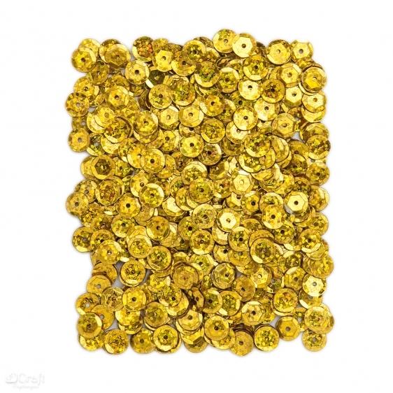 Cekiny holograficzne 9mm 15g złote