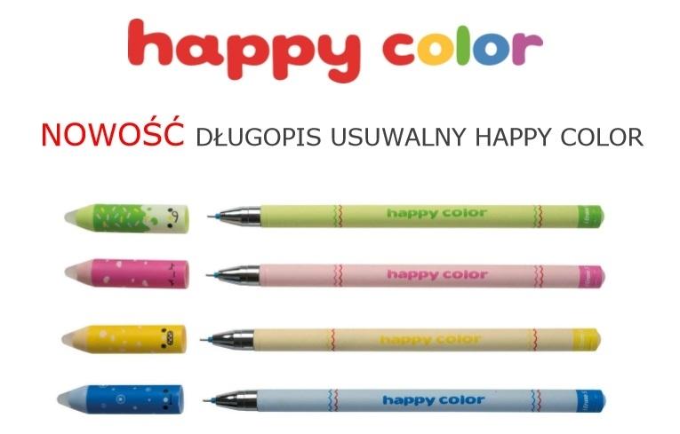 Długopis wymazywalny 0,5mm niebieski kolorowy HC