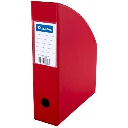 Pojemnik na czasopisma A4 10cm czerwony PCV Datura