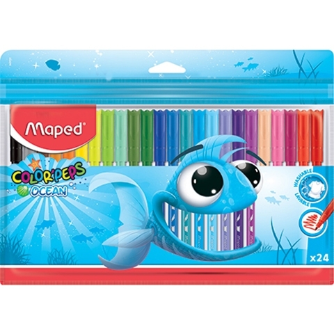 Flamastry 24 kol. Colorpeps Ocean Maped