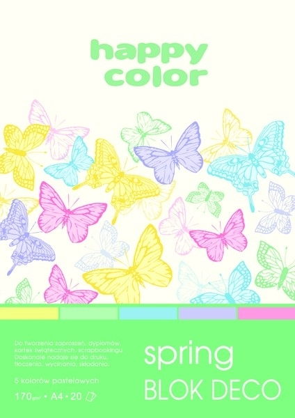Happy Color blok kolor mix Spring A4/20 170g Deco