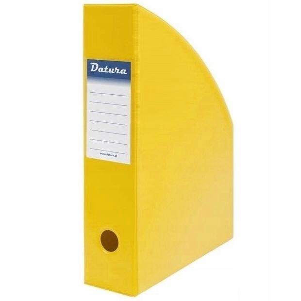 Pojemnik na czasopisma A4 7cm żółty PCV Datura/Natuna