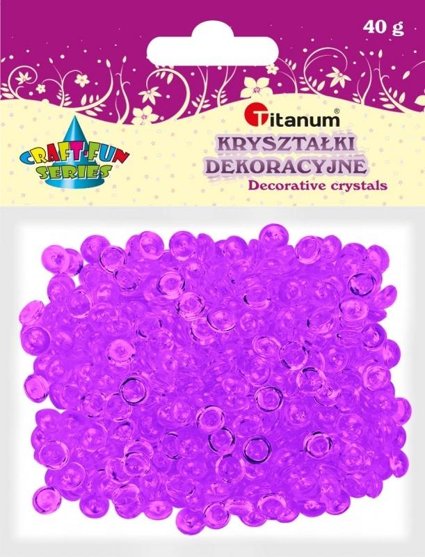 Kryształki ozdobne plastikowe c. fiolet 40g