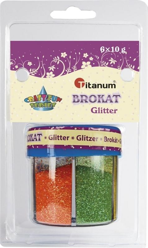 Brokat sypki  6 kolorów 10g  Titanum