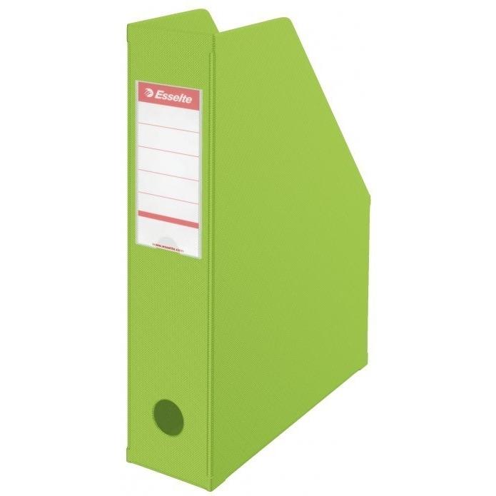 Pojemnik składany A4 70mm zielony  Pvc Esselte