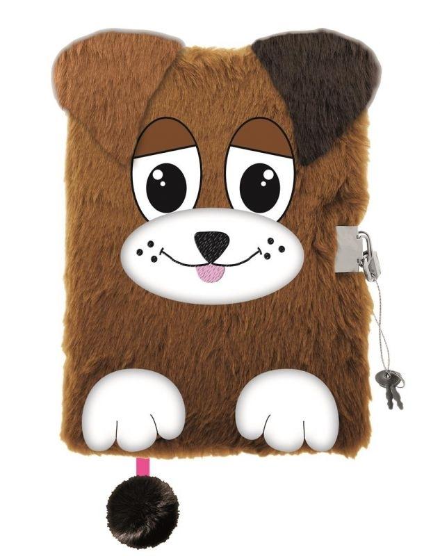 Pamiętnik z kłódką 3D Włochacz A5 96k Doggie