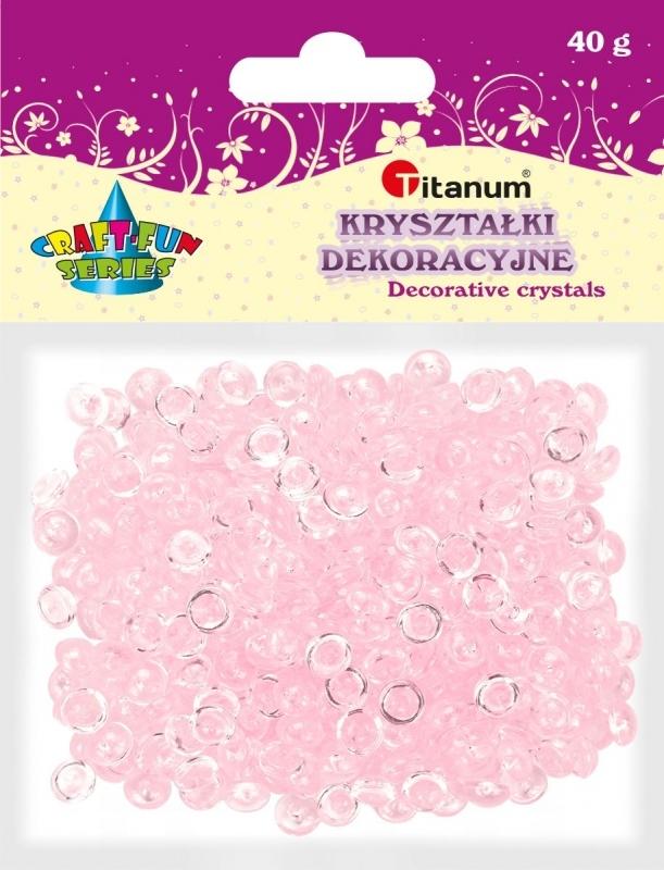 Kryształki ozdobne plastikowe różowe 40g