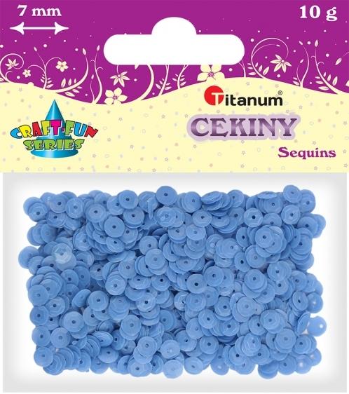 Cekiny kreatywne okrągłe matowe niebieskie 7mm 10g