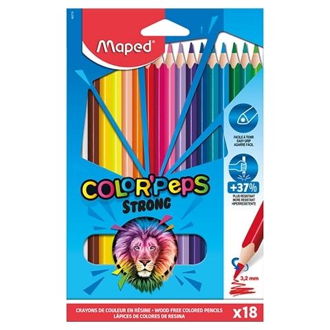 Kredki ołówkowe trójkątne 18 kol. Colorpeps Strong