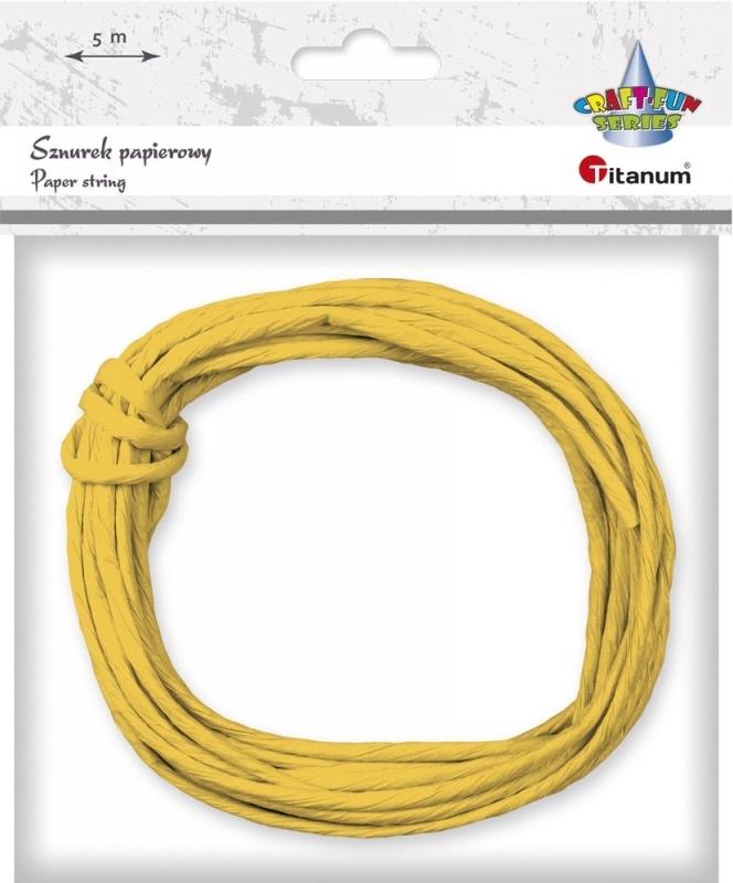Sznurek papierowy 35mm/5m żółty
