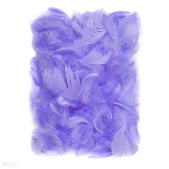 Piórka 5-12cm 10g lila