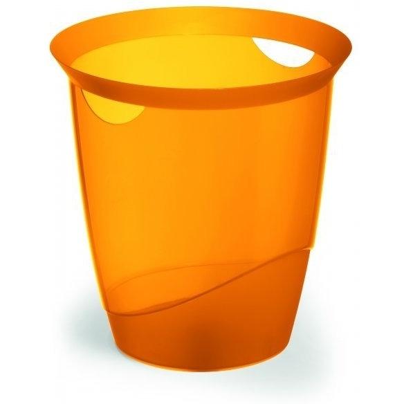 Kosz na śmieci 16l TREND przezroczysto pomarańczowy DURABLE