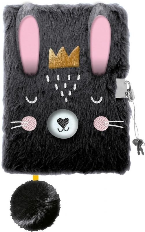Pamiętnik z kłódką 3D Włochacz A5 96k Rabbit