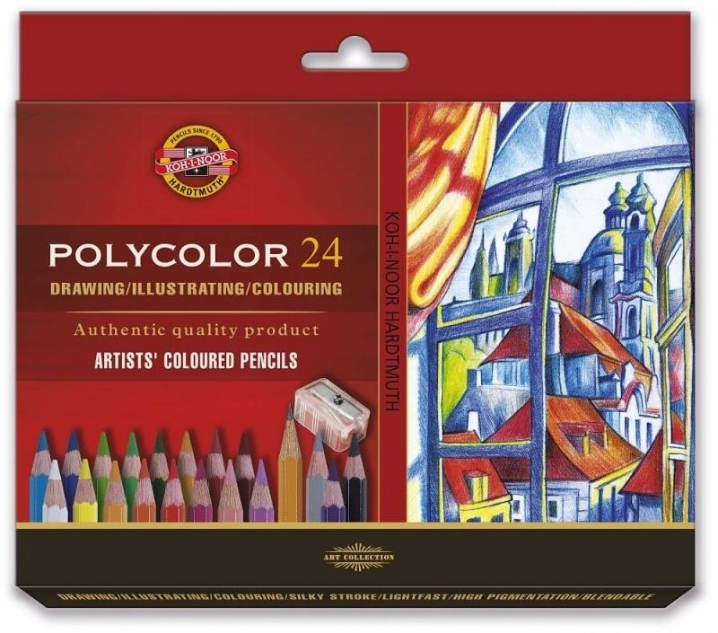 Kredki ołówkowe 24 kolory Polycolor Koh-I-Noor