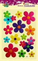 Naklejki do dekoracji przestrzenne kwiaty 5-12cm 13szt