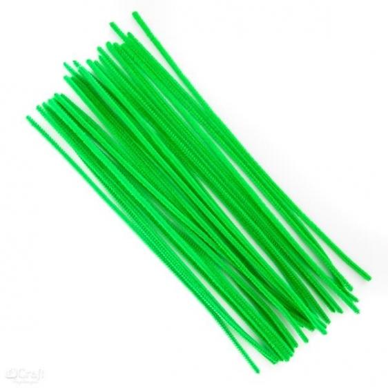 Druciki kreatywne  30cm op.25szt zielone Dalprint