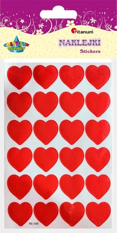 Naklejki dekoracyjne serca 12x22mm A`10