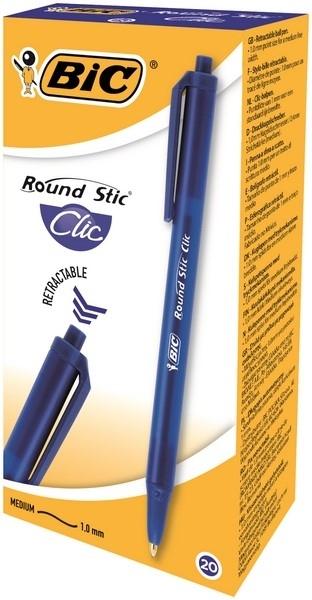 Długopis Round Stic Clic niebieski BIC