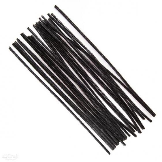 Druciki kreatywne 30 cm op. 25 szt czarne Dalprint