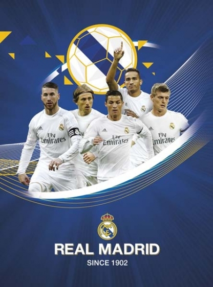 Zeszyt A5 32 kart. Real Madrid linia