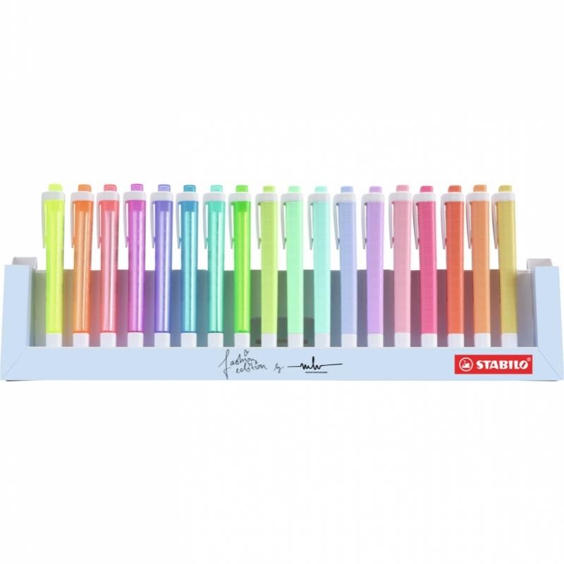 Zakreślacz Stabilo Swing Cool pastel 18szt. podstawka na biurko