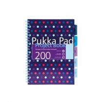 Kołozeszyt z przekładkami A4/200 kratka Pukka Pad Dots