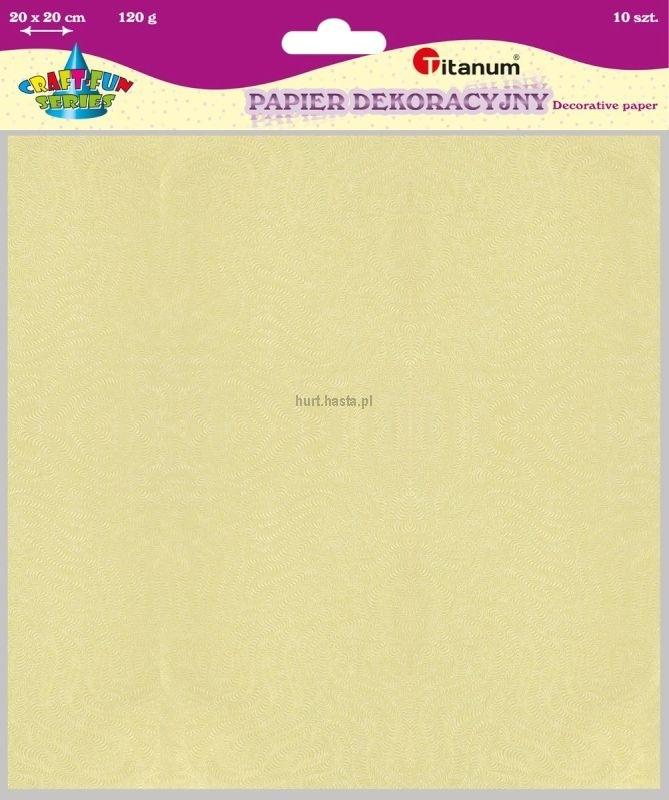 Papier dekoracyjny 20x20 cm 120g A`10 Zestaw 1