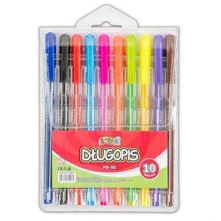 Długopis PB-80 zestaw 10 kolorów kolori Penmate