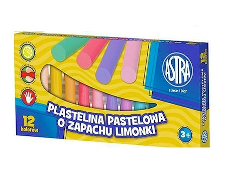 Plastelina pastelowa o zapachu limonki 12 kolorów