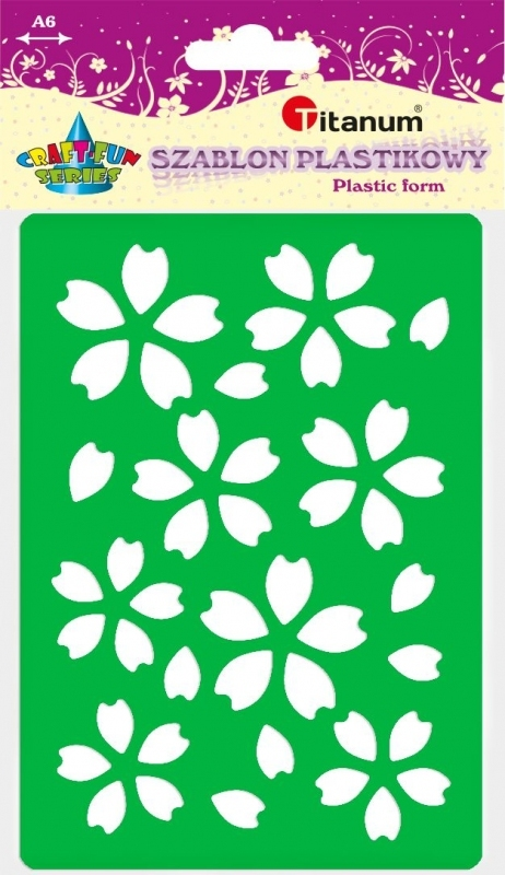 Szablon plastikowy A6 kwiaty 22932