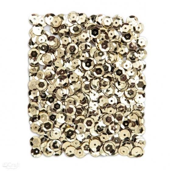 Cekiny metaliczne 9mm 15g złote jasne  Dalprint