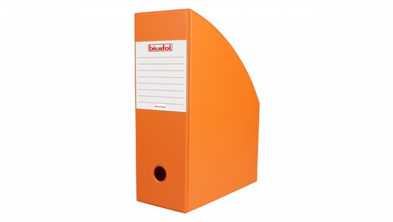 Pojemnik na czasopisma 10cm pomarańczowy Biurfol