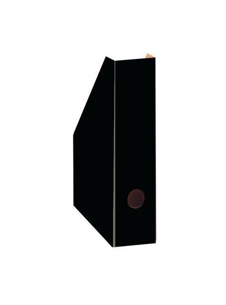 Pojemnik na czasopisma A4 7cm czarny lakierowany Bantex