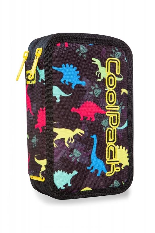 Piórnik potrójny. z wyp.Coolpack Jumper3 Dinosaurs