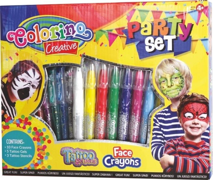 Zestaw kredek i długopisów do twarzy i ciała Party Colorino