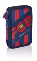 Piórnik podwójny bez wyposaże. FC Barcelona FC-145