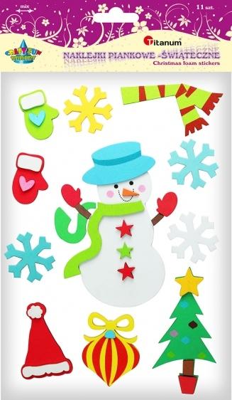 Dekoracje piankowe kreatywne świąteczne samoprzylepne 11 szt.