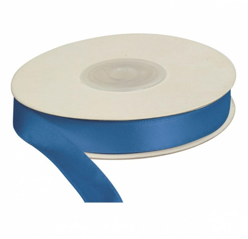 Wstążka satynowa dekoracyjna niebieska 12mm/25m