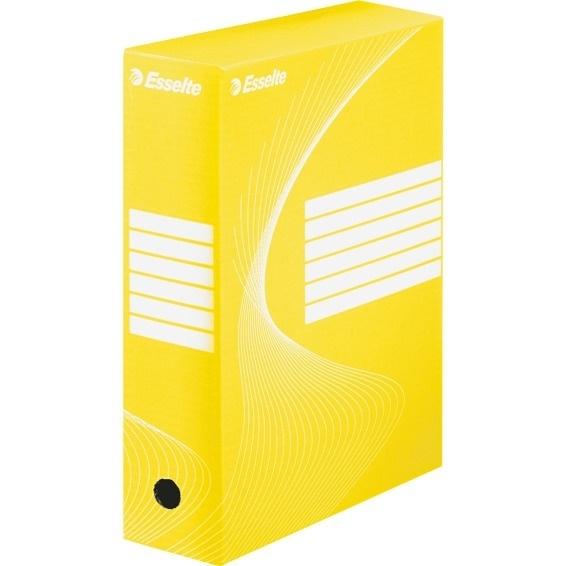 Pudełka archiwizacyjne ESSELTE BOXY 100mm żółte