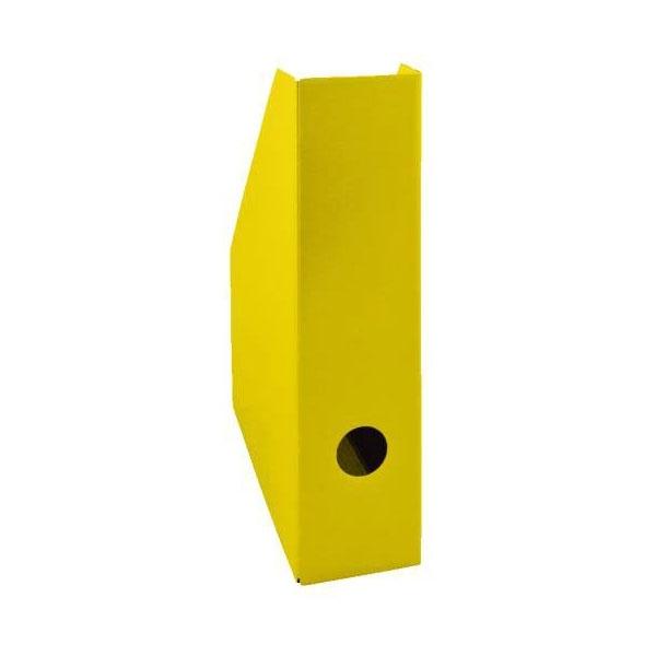 Pojemnik na czasopisma A4 7cm żółty lakierowany Bantex
