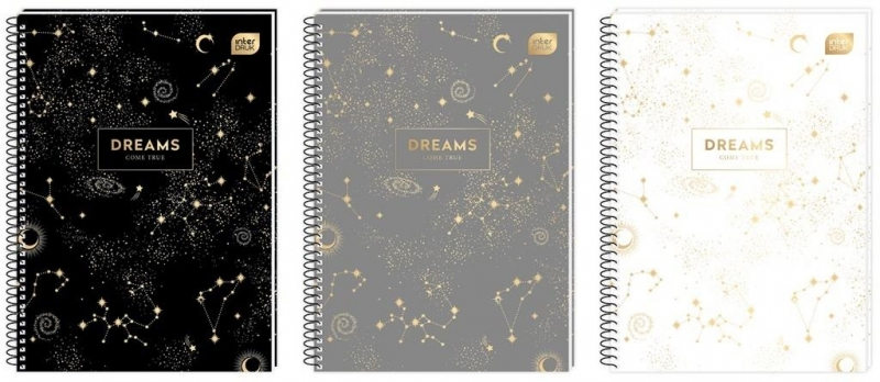 Kołozeszyt A4 100k kratka Metalic Dreams Interdruk